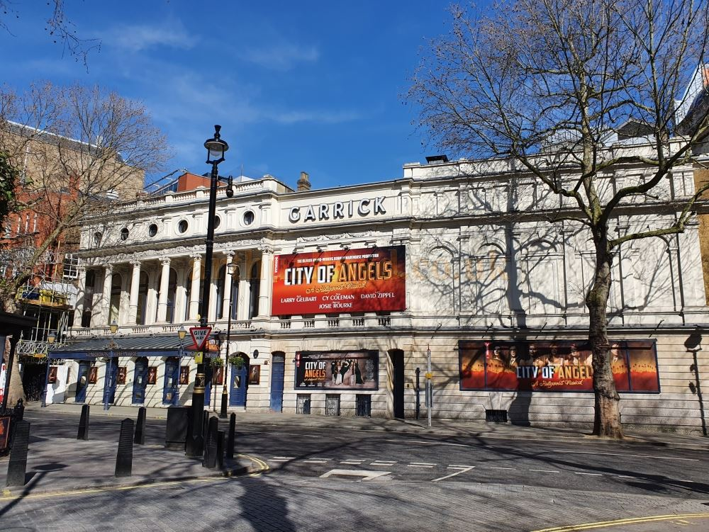The Garrick Theatre which had been on previews for the Donmar Warehouse's Olivier Award winning production of 'City of Angels' when London's Theatres were forced to close - on March the 23rd 2020 during the Coronavirus Pandemic - Photo M.L.
