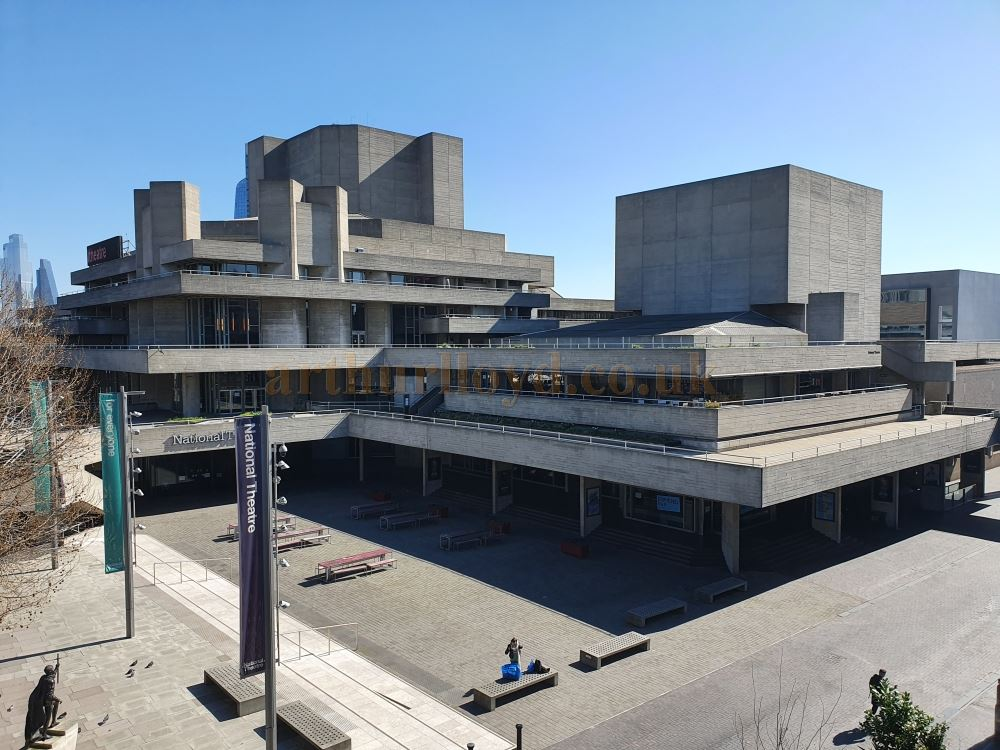 The National Theatre closed and all but deserted on March the 23rd 2020 during the Coronavirus Pandemic - Photo M.L.