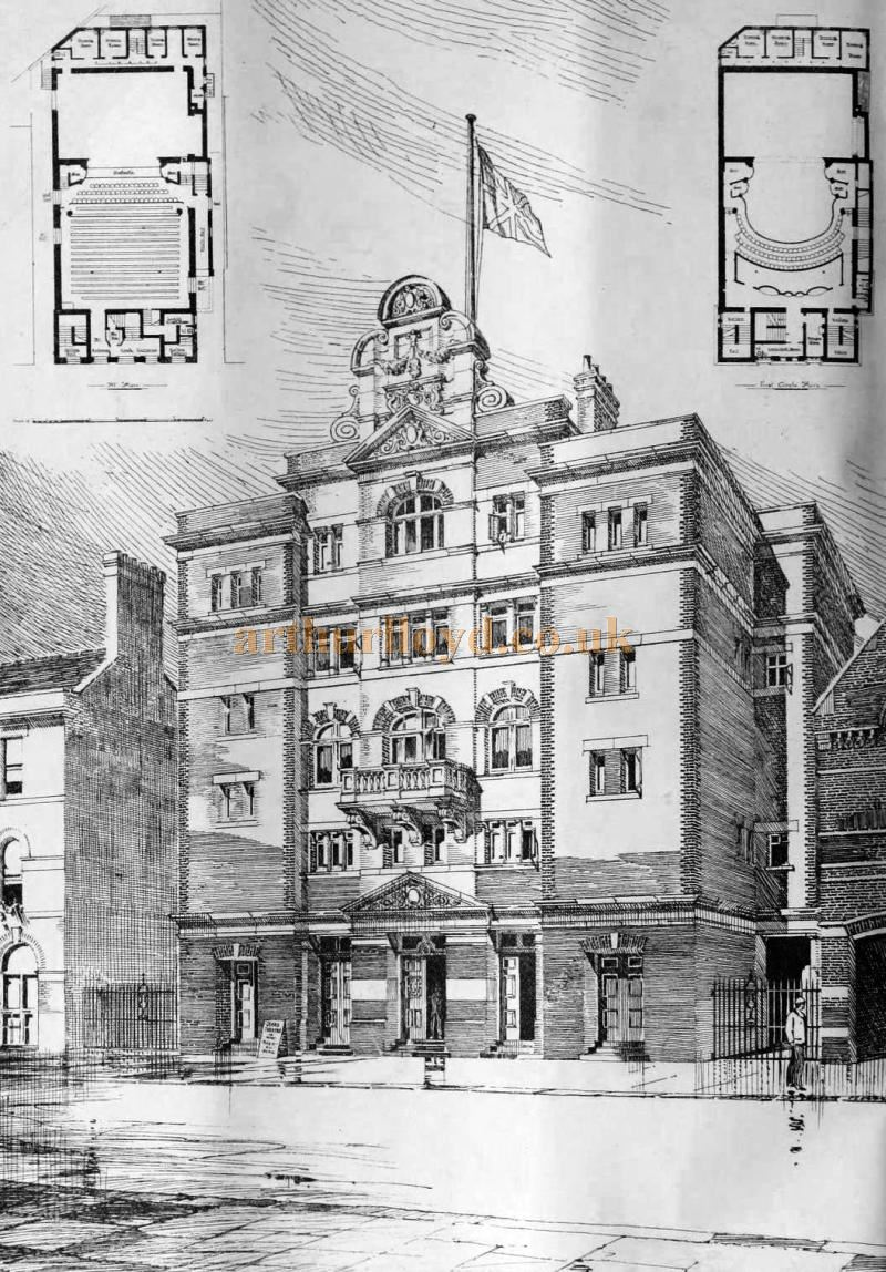 A Sketch of the Grand Theatre, Luton - From the Building News and Engineering Journal, September 1st 1899