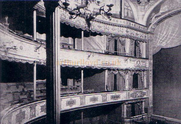 C. J. Phipps' Lyceum Theatre Auditorium in 1890 - From 'The Lyceum' by A. E. Wilson 1952