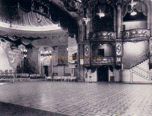 The Palais de Dance in the auditorium and stage of the former Lyceum Theatre on October the 22nd 1945 - From 'The Lyceum' by A. E. Wilson 1952.