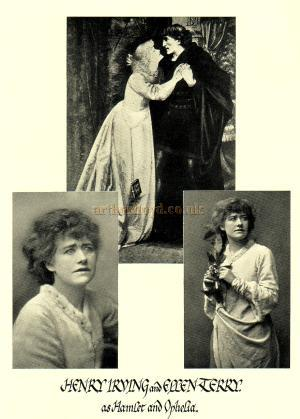 Henry Irving and Ellen Terry as Hamlet and Ophelia