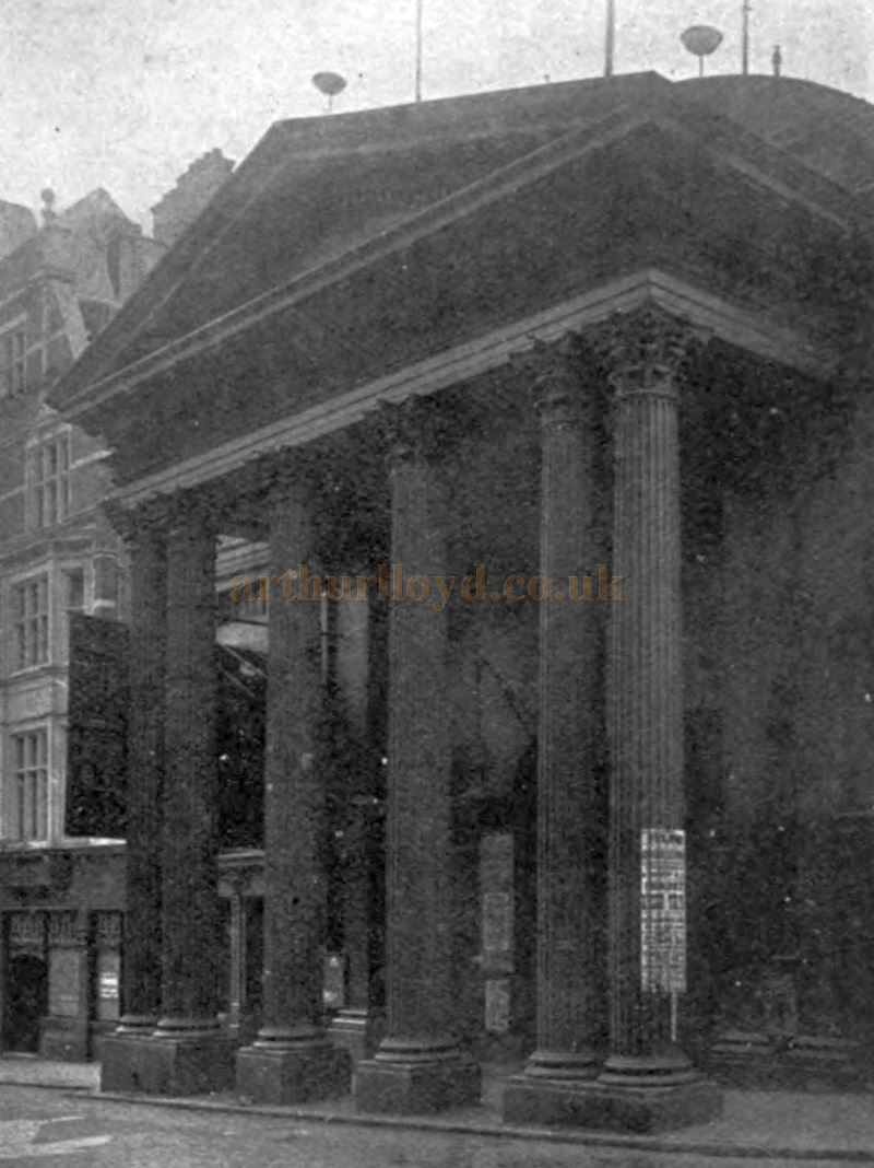 The Lyceum Theatre in 1903, shortly before its reconstruction by Bertie Crewe the following year - From 'The Lyceum and Henry Irving' by Austin Brereton, published in 1903.