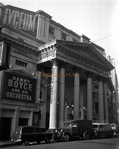 The Lyceum Theatre during its time as the Mecca Ballroom, here featuring Benny Boyce and his Orchestra in 1958 - Courtesy Gerry Atkins.