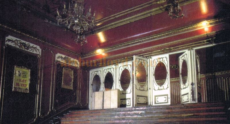 The Lyceum Theatre in a near derelict state and before its eventual restoration in 1996 - From the papers of the late Richard Brett - Courtesy Roger Fox.