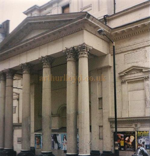 The Lyceum Theatre looking very sorry for itself, boarded up and dark, this photo was taken shortly before its 1996 restoration - Courtesy Jason Mullen