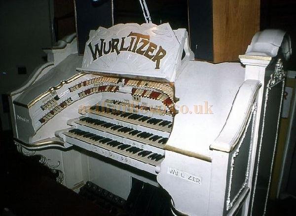A photograph of the Wurlitzer Theatre Organ Console which was originally installed at the Empress Ballroom, Blackpool.  - Courtesy Alan Ashton