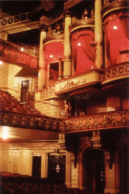 The auditorium of the Palace Theatre, Manchester in 1978 - Photo Courtesy Ted Bottle.