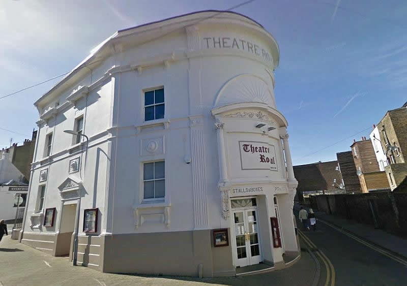 A Google Streetview image of the Theatre Royal, Margate - Click to Interact