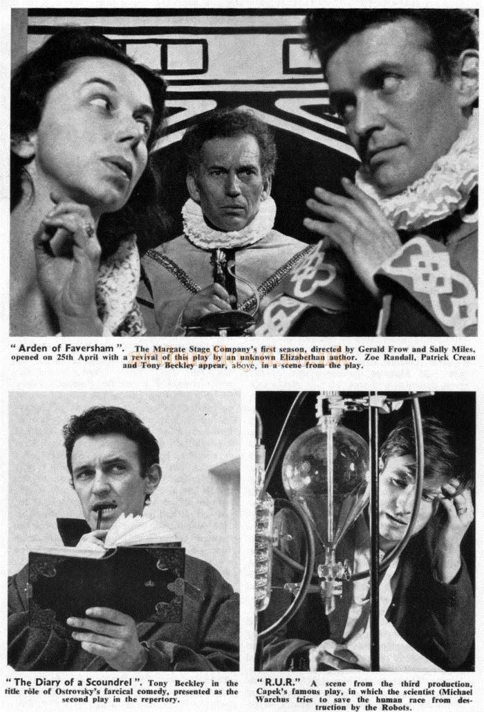 Three images from productions at the reopened Theatre Royal, Margate -From Theatre World, June 1962 - Courtesy Maurice Poole.
