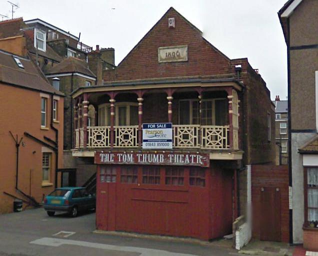 A Google Streetview image of the Tom Thumb Theatre, Margate - Click to Interact