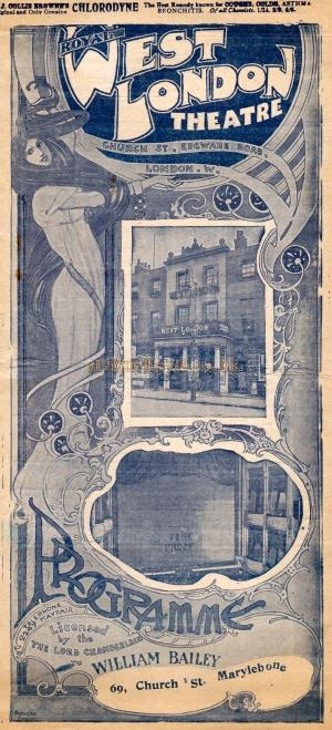 A programme for 'The Octoroon' at the West London Theatre in February 1909.