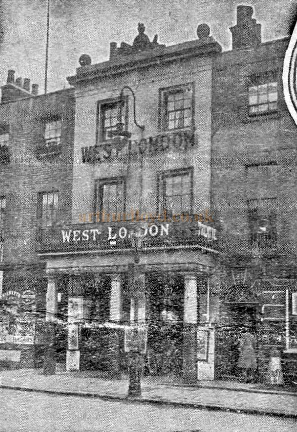 An early photograph of the West London Theatre - From a programme for 'The Octoroon' at the Theatre in February 1909