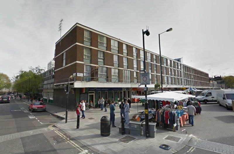 A Google StreetView Image of the site of the former West London Theatre / Marylebone Theatre - Click to Interact