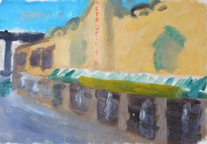 A painting of the exterior of the Metropolitan Theatre by Ian Graham, aged 14
