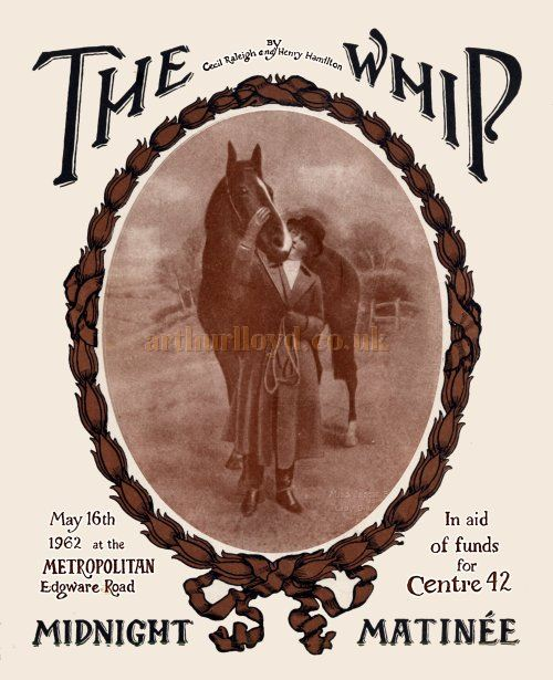 A Programme Cover for a production of 'The Whip' at the Metropolitan Theatre in May 1962 - Kindly donated by Edward Beckerleg.