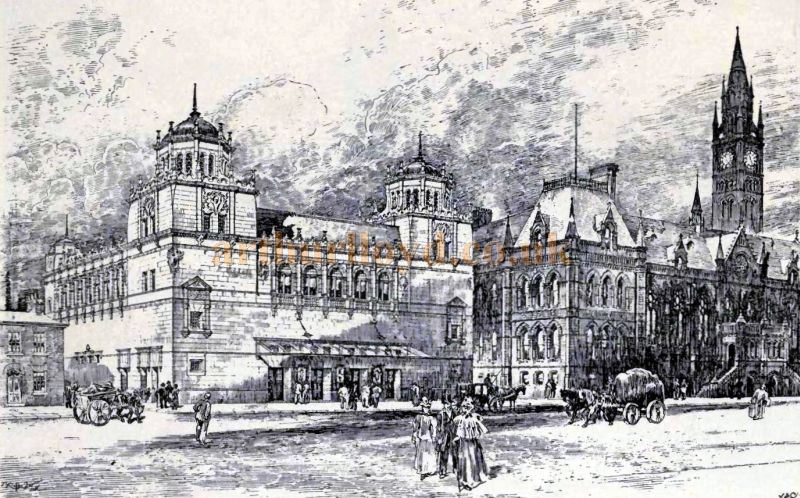 A Sketch of the Empire Theatre, Middlesbrough by its Architect Ernest Runtz - From the Academy Architecture and Architectural review of 1898.