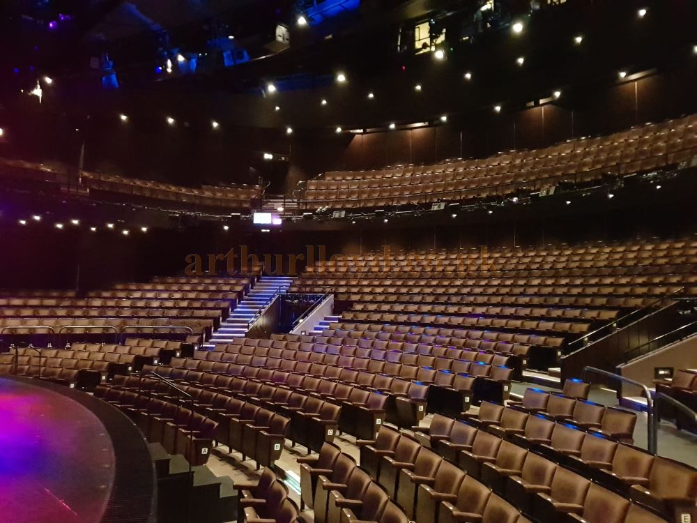 The Auditorium and Stage of the Gillian Lynne Theatre during the run of the hit musical 'School of Rock' in January 2019, and after the new House Lighting system had been installed in the Theatre - Photo M.L.