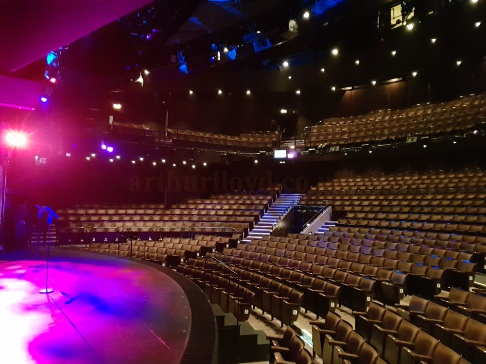 The Auditorium and Stage of the Gillian Lynne Theatre during the run of the hit musical 'School of Rock' in January 2019, and after a new House Lighting system had been installed in the Theatre - Photo M.L.