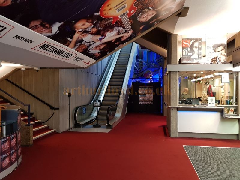 The ground level Foyer and Box Office, and the Escalator and Stairs which take audiences up to the stalls and circle levels of the Auditorium at the Gillian Lynne Theatre in December 2018 - Photo M.L.