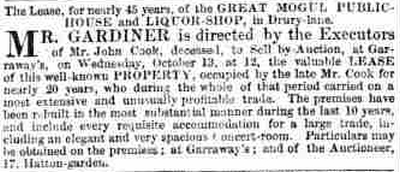 The Morning Advertiser, October 4th 1847.