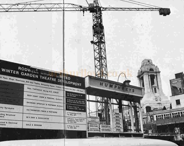 The site of the former Winter Garden Theatre and the future New London Theatre in 1968 - From the ILN, 9th of November 1968.