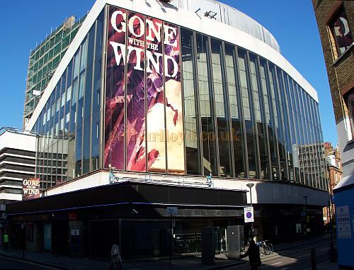 The New London Theatre in February 2008 during production for the musical version of 'Gone With The Wind' - Photo M.L.