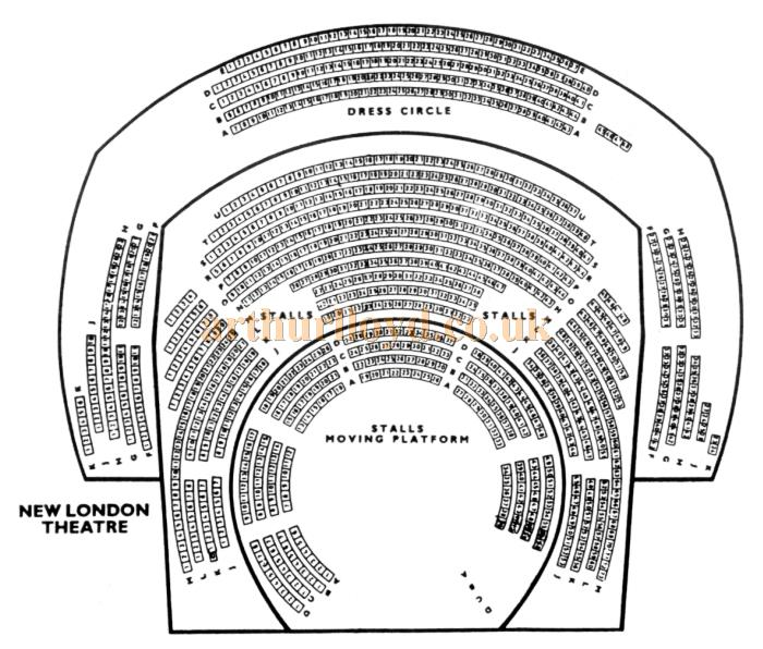 A 1970s / 80s Seating Plan for the New London Theatre