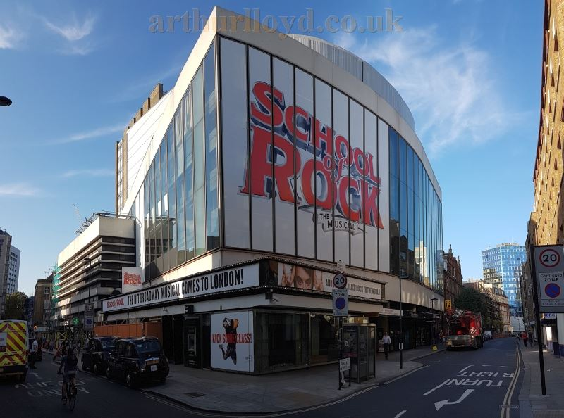The Gillian Lynne Theatre during production for 'School of Rock The Musical' in September 2016 whilst under it's former name of the New London Theatre - Photo M.L.