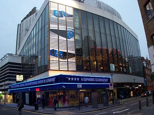 The New London Theatre during the run of 'Blue Man Group' in October 2006. - Photo M.L.