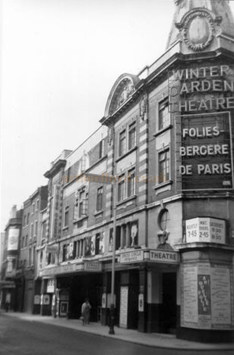 The Winter Garden Theatre, Drury Lane during the run of 'Folies Bergere De Paris' in 1958 - Courtesy Gerry Atkins
