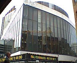 The New London Theatre during the final performances of 'Cats' in May 2002 after the immense run of 8,949 performances.