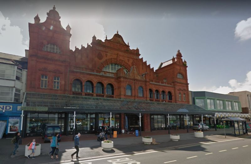 A Google Streetview image of the Morecambe Winter Gardens - Click to Interact