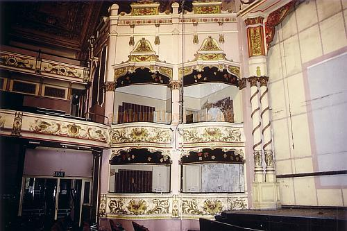 The Auditorium of the Winter Gardens'  Victoria Pavilion Theatre, Morecambe in 1990 - Courtesy Ted Bottle.