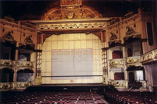 Auditorium of the Winter Gardens'  Victoria Pavilion Theatre, Morecambe in 1990 - Courtesy Ted Bottle.