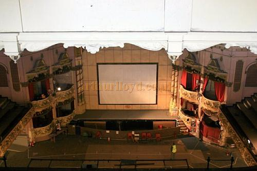 The Auditorium and Stage of the Winter Gardens'  Victoria Pavilion Theatre, Morecambe during assessment work for the proposed renovation of the Theatre in September 2008 - Courtesy Roger Fox.