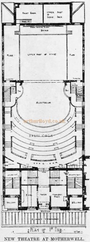 A Plan of Motherwell's New Century Theatre - From 'The Building News and Engineering Journal' of August 30th 1901.