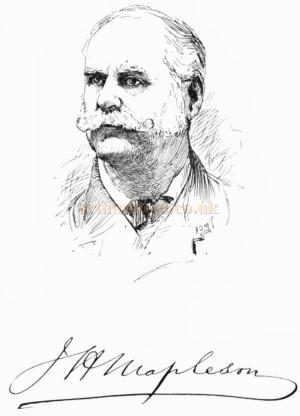 James Mapleson - From a sketch in his memoirs 1888.