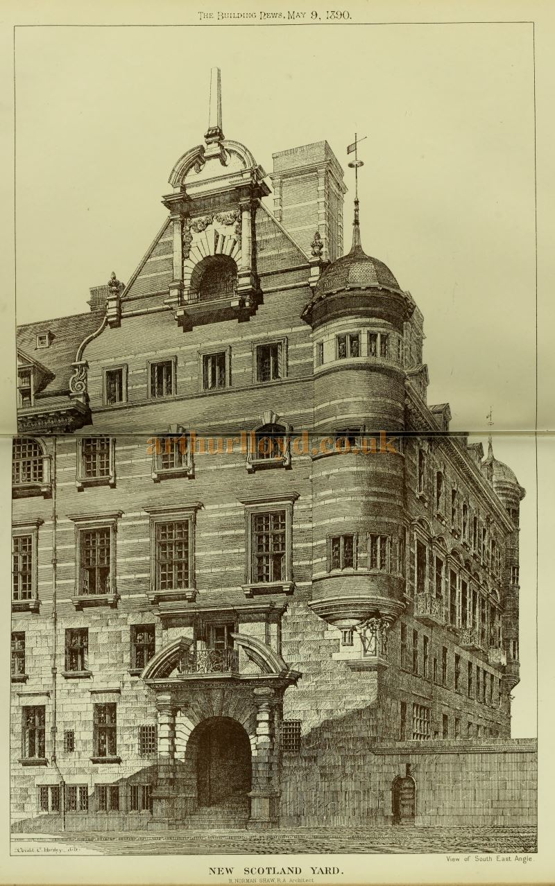Norman Shaw's New Scotland Yard - From the Building News and Engineering Journal of May the 9th 1890