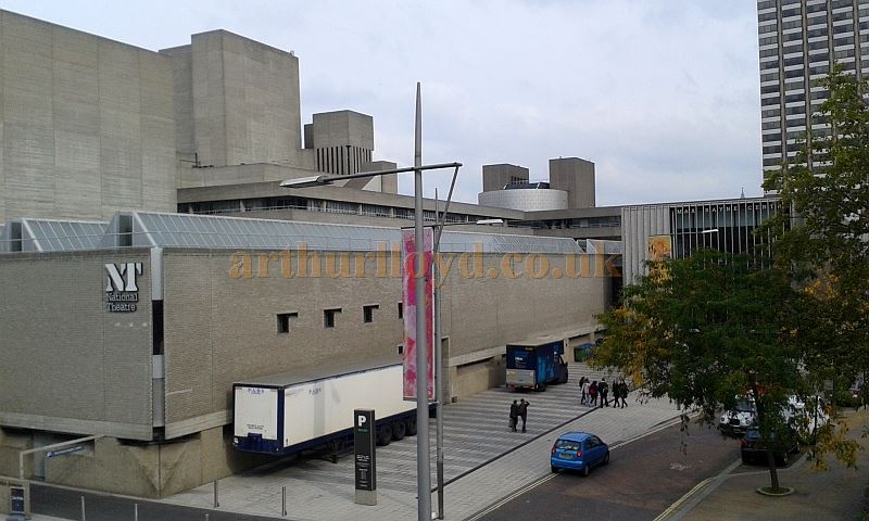 The rear of the National Theatre in October 2015 showing the newly constructed Max Rayne Centre