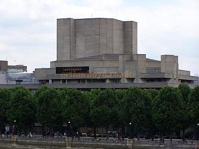 The vast Fly Tower of the Olivier Theatre can be seen here thrusting out of the National Theatre Complex in July 2008. Photo M.L.