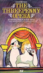 Programme for 'The Threepenny Opera' at the National Theatre's Olivier Theatre which was first produced there in 1986.