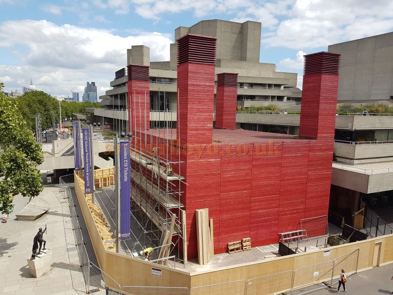 The National Theatre's 'Temporary Theatre' being removed in June 2016 - Photo M.L.