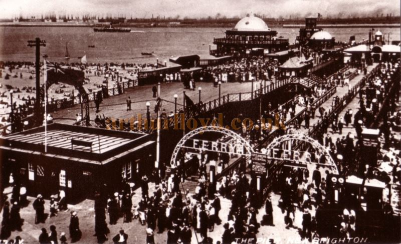 A Postcard showing the Pier Pavilion, New Brighton in 1927 - Courtesy Roy Cross