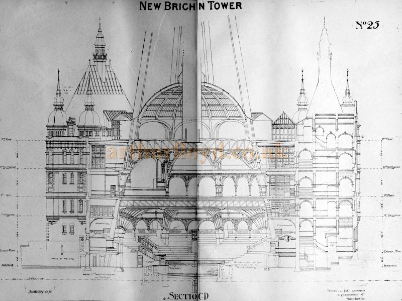 A Section Plan of the New Brighton Tower - From the Building News and Engineering Journal of December the 29th 1899