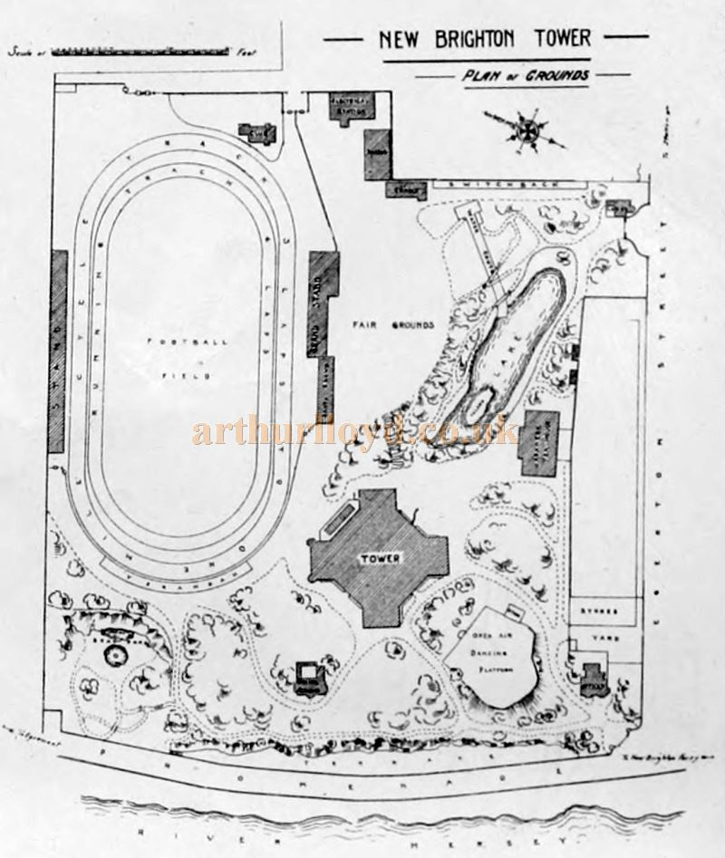 A Plan of the Grounds of the New Brighton Tower - From the Building News and Engineering Journal of December the 29th 1899.