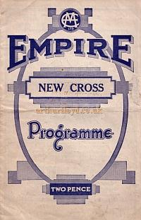 A Variety programme for the New Cross Empire in February 1935 - Courtesy Roy Cross.