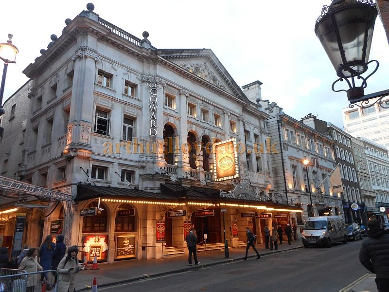 The Noel Coward Theatre during the run of 'Mrs Henderson Presents' in February 2016 - Photo M.L.