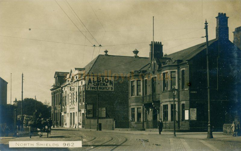 An early photograph showing the Albion Kinema, North Shields - Courtesy Maurice Friedman, British Music hall Society