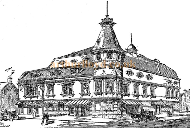A sketch showing the proposed new Borough Theatre, North Shields - From the Stage Newspaper, May 29th 1902